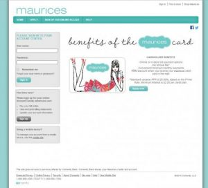 Maurices Credit Card