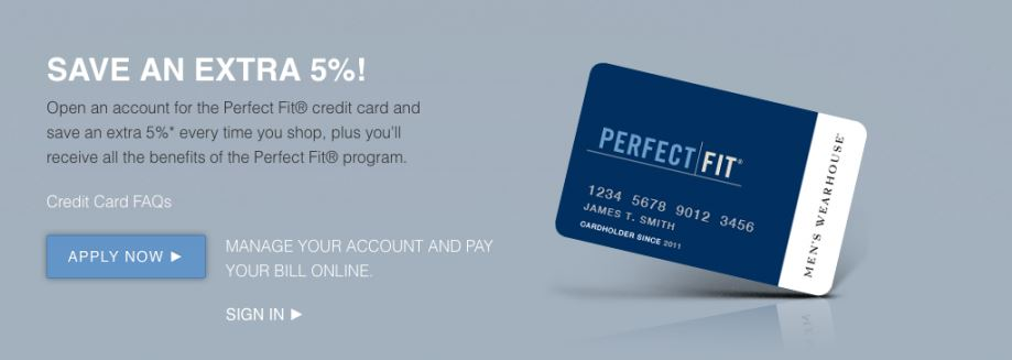 Men's Wearhouse Perfect Fit Credit Card